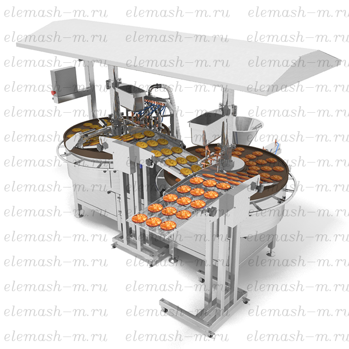 Frying line for potato pancakes, PZHD series