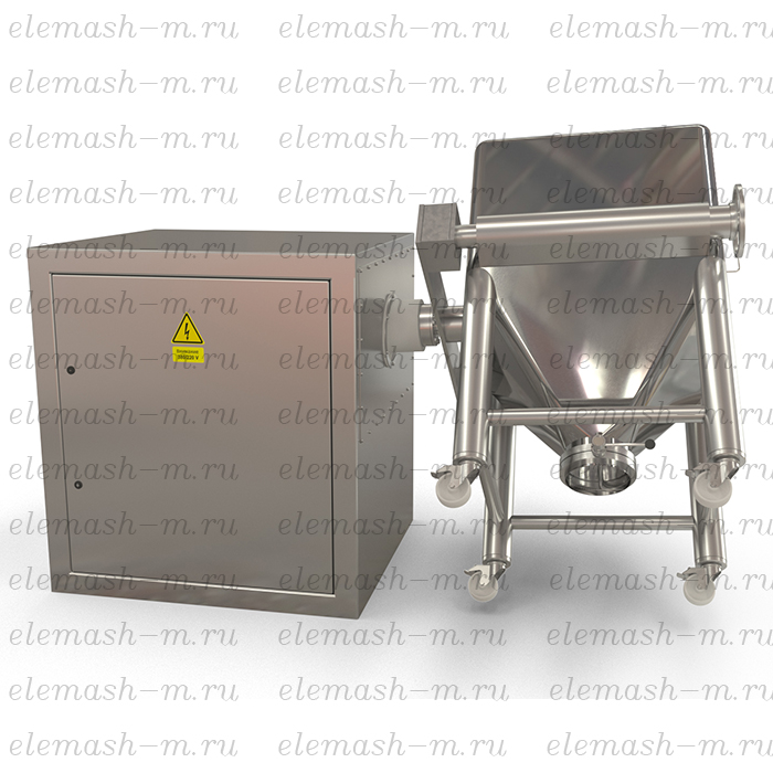 Bin mixer with changeable containers, series SMV