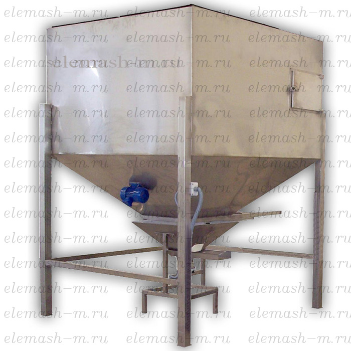 Storage hopper with vibration feeder