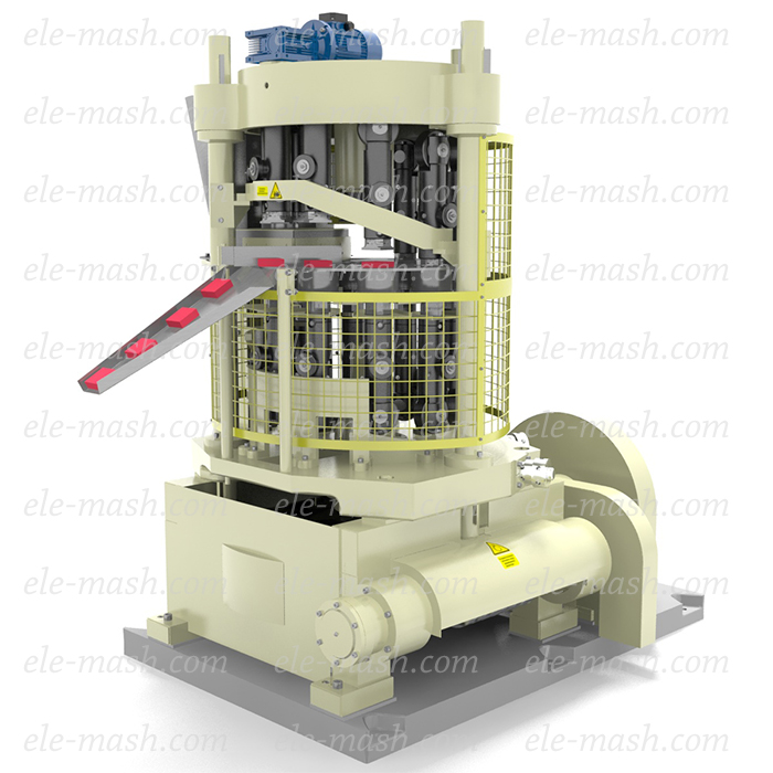 Rotary press for food concentrates