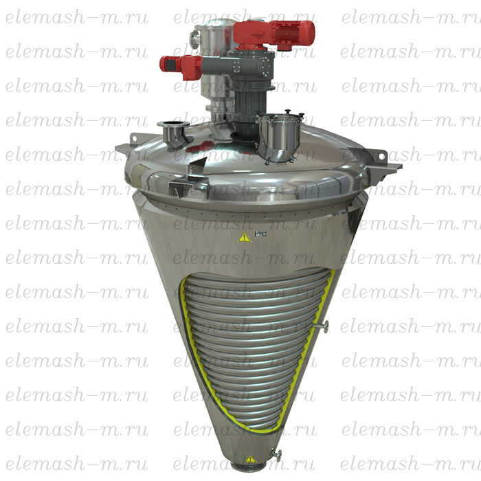 Conical vacuum dryer, models SKPV and SKV (explosion proof)