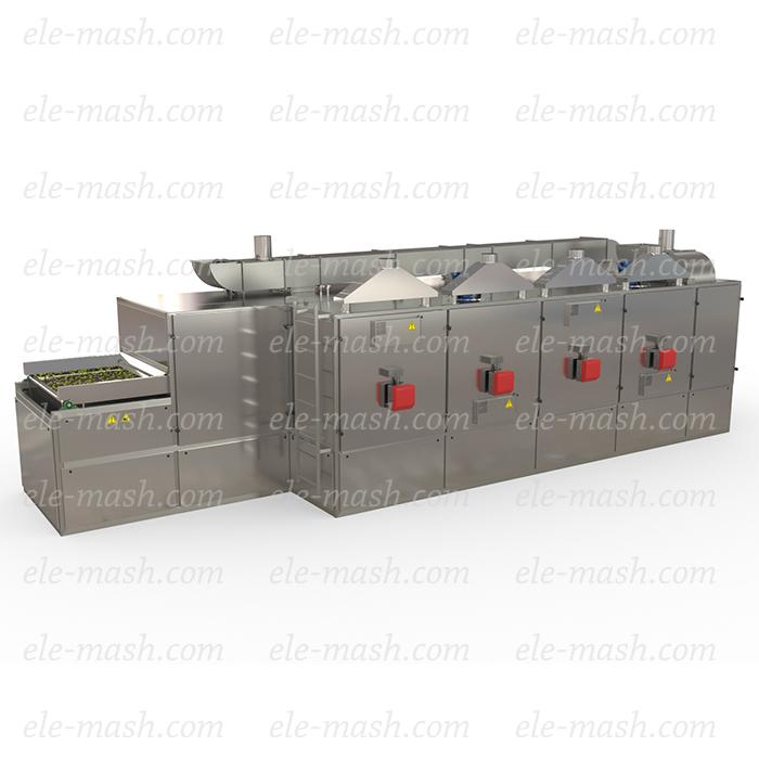 Indirect heating drying machine, model SLK