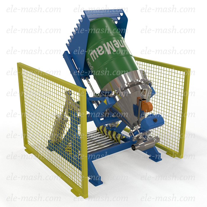 Unloading manipulator for the barrels, model RMB-250