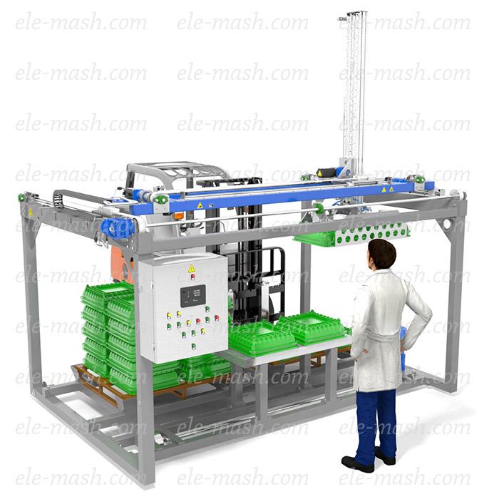 Automatic robotic depalletizer