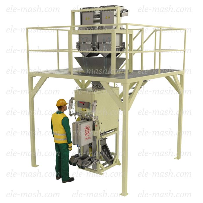 Semi-automatic two-head filling machine, series DP