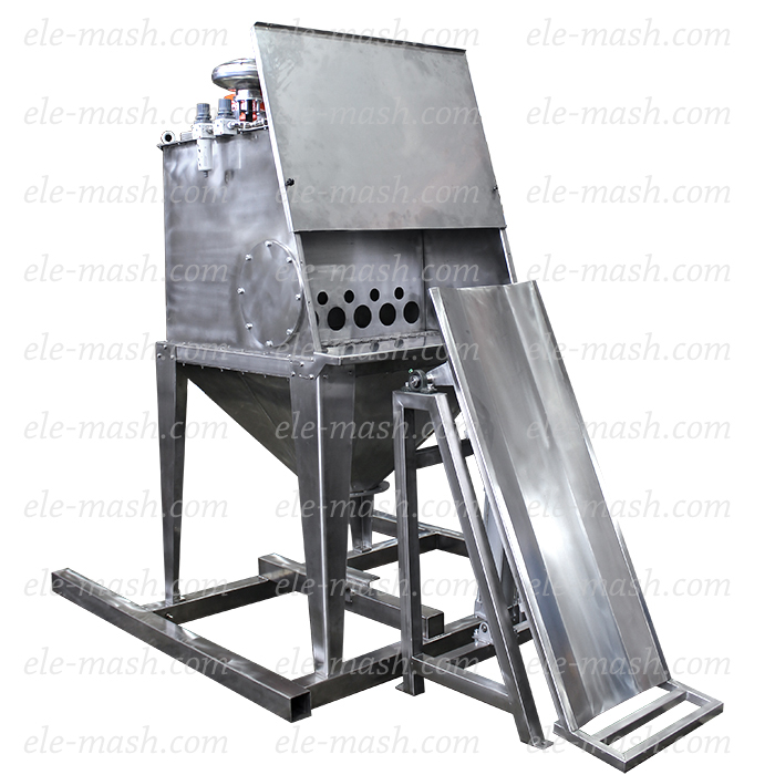Bag unloader SHR-2 with rotary sifter