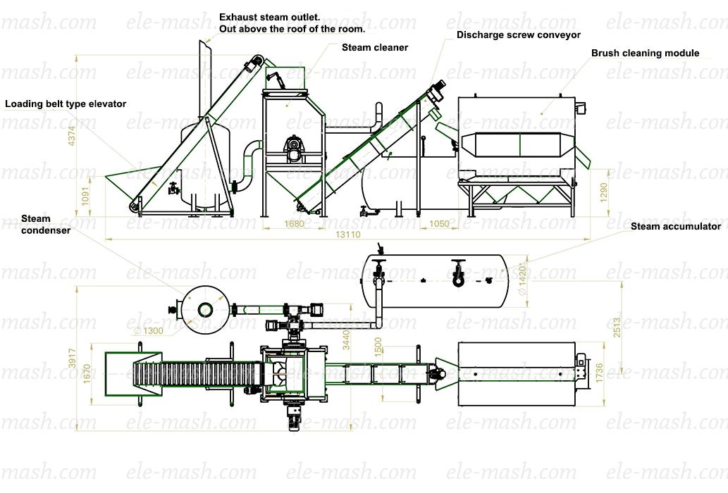 Hydraulic cutting / slicing line