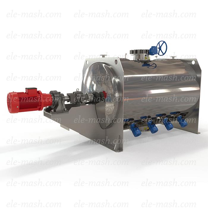 Plough thermal mixer, series SGPTV